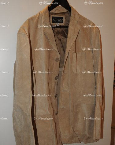 Old Mens classic ARMANI JEANS leather jacket. Size UK44. RRP £750.