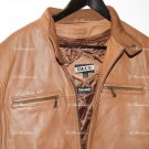TIBOR   Flight Bomber Aviator Pilot Jacket Distressed insulated Brown Leather