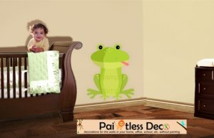 Frog Wall Decal (full color) SMALL -ec