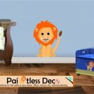 Lion Wall Decal (full color) SMALL -ec
