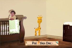 Giraffe Wall Decal (full color) MEDIUM -ec