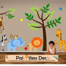 Kids Jungle Land Wall Decal Sticker Set s1-ec