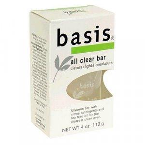 Basis All Clear Bar Antibacterial Cleansing Bar 8 Pack