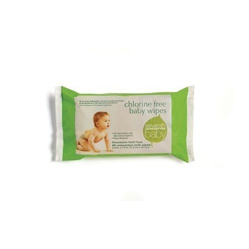 Seventh Generation Baby Wipes Refills CASE PACK