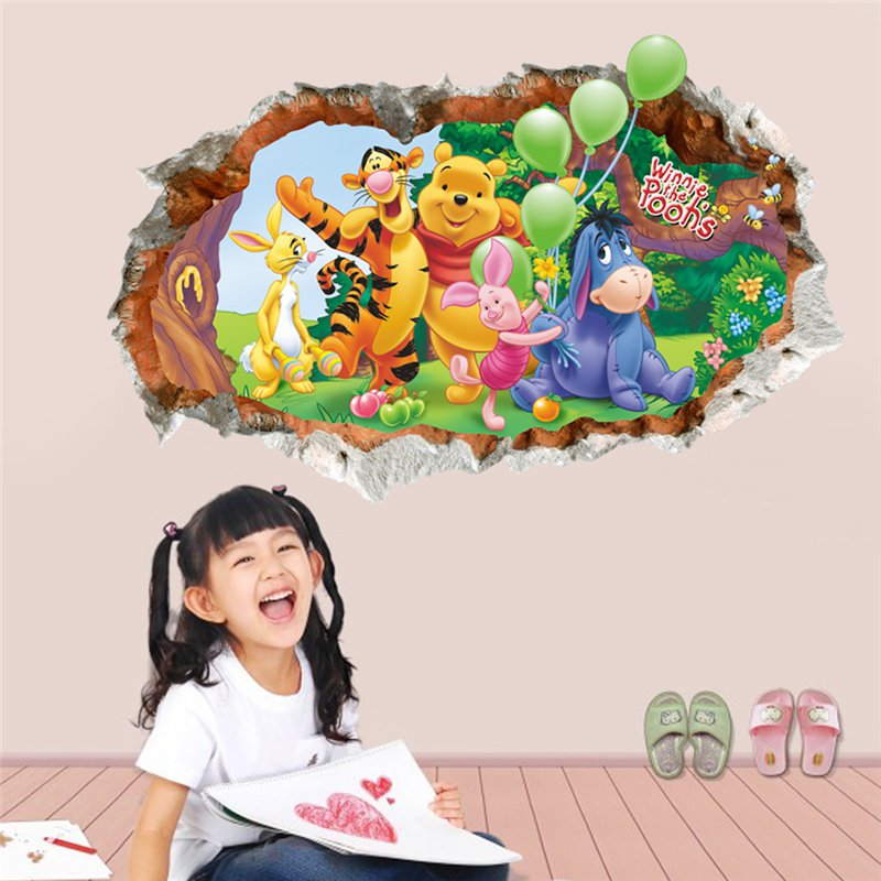 "Disney: Winnie-the-Pooh and Friends | 20"" x 28"" 3D Removable Wall Sticker/Decal"