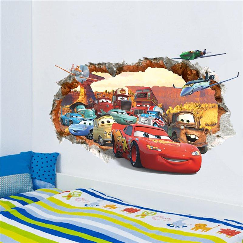 "Disney Pixar: Cars Lightning McQueen and Friends | 20"" x 28"" 3D Removable Wall Sticker/Decal"