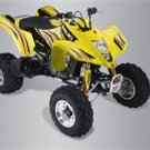 2008 QuadSport Z400 Yellow/Red Graphic Set (For Yellow ATV)