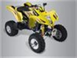 2008 QuadSport Z400 Seat Cover (Yellow/Red)