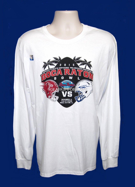 2015 Boca Raton Bowl Souvenir Tee - L/S White - Adult XL