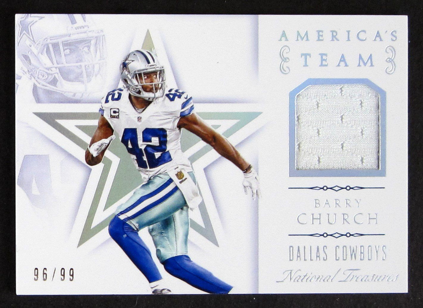 Barry Church 2015 National Treasures jersey card