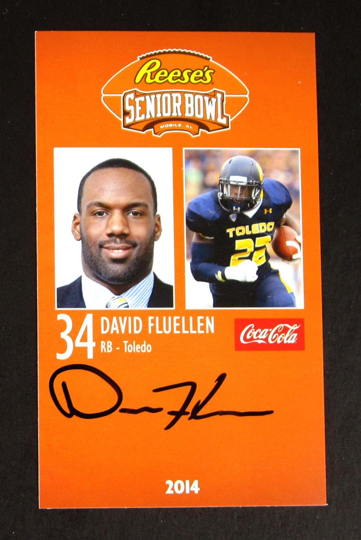 David Fluellen Autograph 2014 Senior Bowl