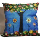 "Beautiful Colorful 18"" Square Pillow Durable Cotton Linen Includes Cushion insid"