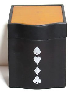 Classic Card Game Elegant Engraveable Two-tone Wood Box 2New Decks Scorepad