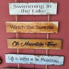 """Mountain Air Wood Sign On Mountain Time RestoreTheSoul Approx:28"""" tall x19"""" wide"""