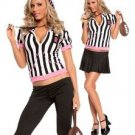 Female Referee Costume Halloween sz: OneSizeFitsAll - 2-way wear: skirt or pants