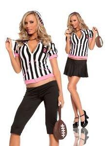Female Referee Costume Halloween sz: OneSizeFitsAll - 2-way wear: skirt or pants