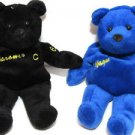 Wayne Gretzky and Jaromir Jagr Beanie Bears pair Blue Black No99 and No68