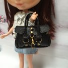 Black Fashion Handbag for Dolls Scal : 1/6