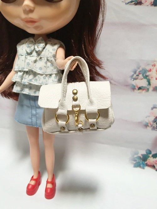 White Fashion Handbag for Blythe/Barbie/Pullip/Licca Dolls