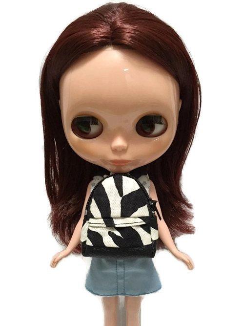 "Dollhouse Miniatures Backpack Bag Striped Zebra For 12"" Doll"