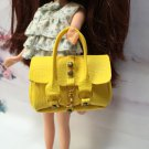 Dollhouse Miniatures Yellow Fashion Handbag for Blythe/Barbie/Pullip/Licca Doll