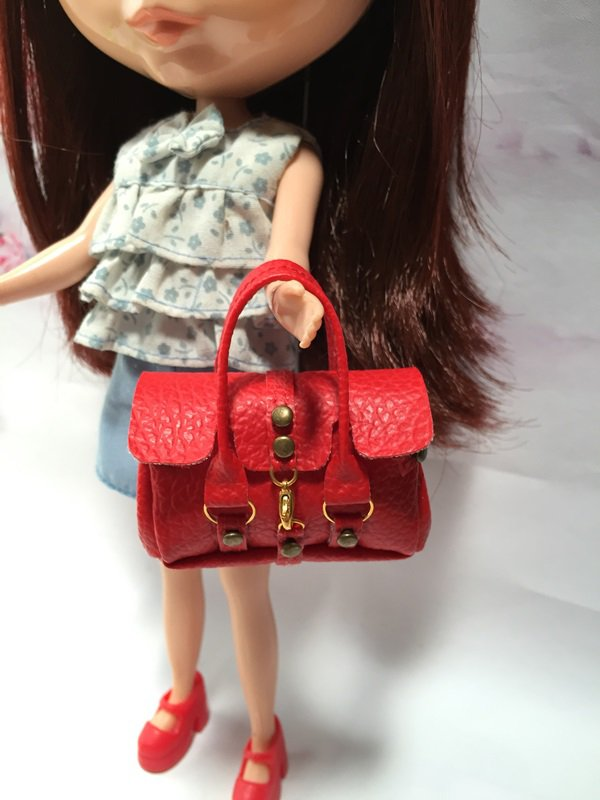 Red Fashion Handbag for Blythe/Barbie/Pullip/Licca Doll