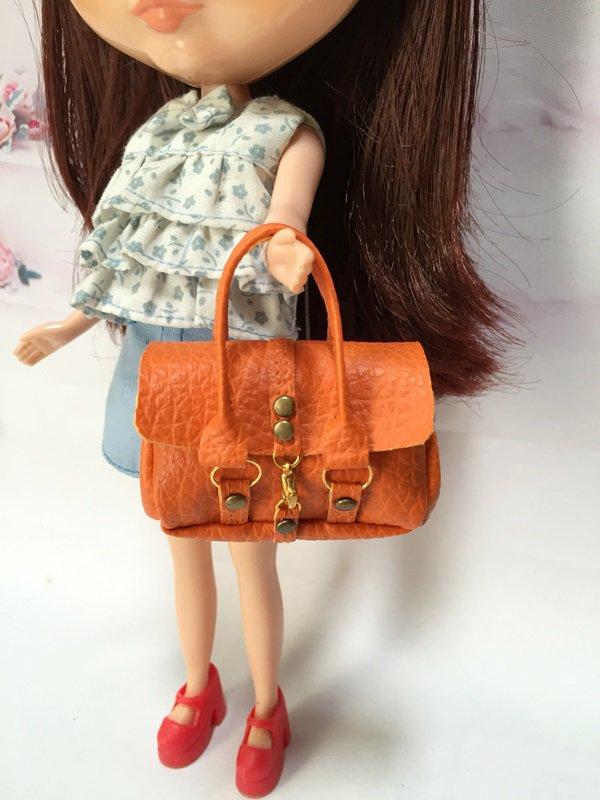 Orange Fashion Handbag for Blythe/Barbie/Pullip/Licca Doll