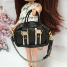 Dollhouse Miniatures Black&White Fashion Bag For Blythe/Barbie/Jenny/Pullip Doll