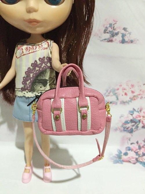 Pink With White Fashion Bag For Blythe/Barbie/Jenny/Pullip Doll