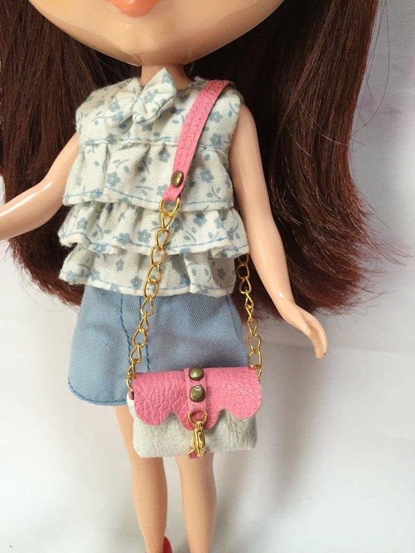 White With Pink Shoulder Bag for Blythe/Barbie/Pullip/Licca Doll