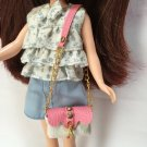 White With Pink Shoulder Bag for Blythe/Barbie/Pullip/Licca Doll