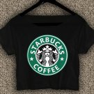 Starbucks Coffee T-shirt Starbucks Coffee Crop Top Starbucks Coffee Crop Tee SC#01