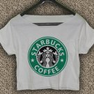 Starbucks Coffee T-shirt Starbucks Coffee Crop Top Starbucks Coffee Crop Tee SC#02