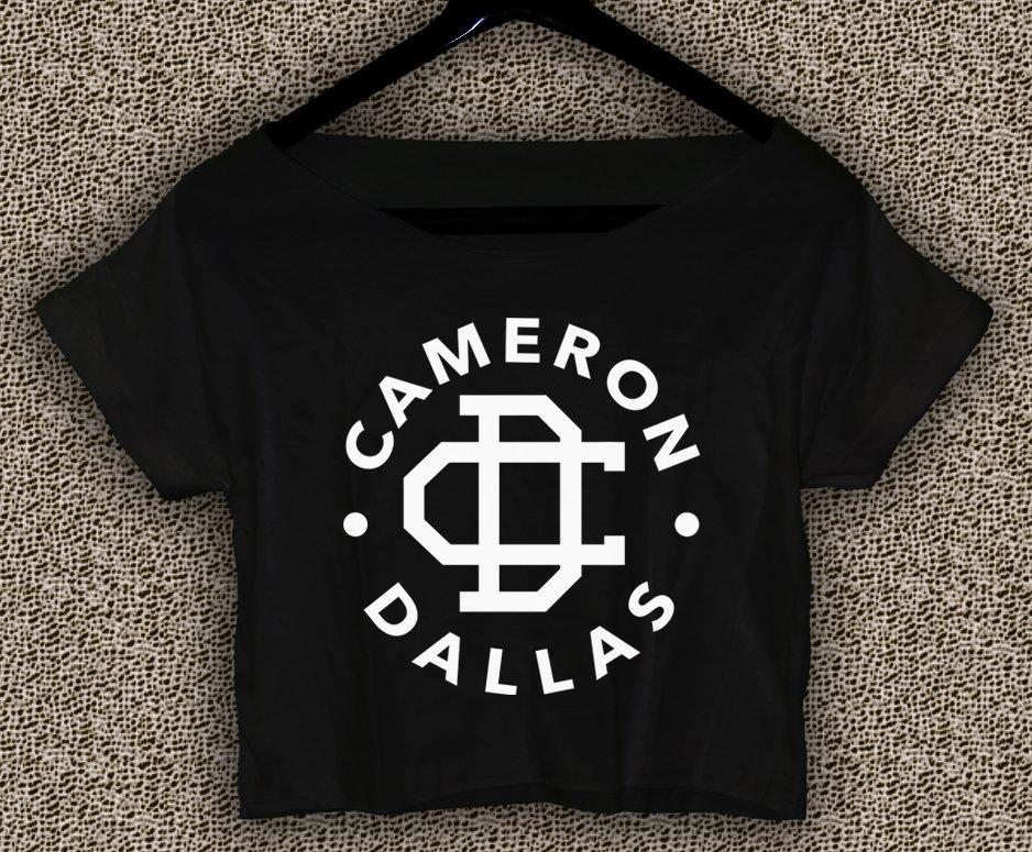 Cameron Dallas T-shirt Magcon Boys Crop Top Cameron Dallas  Crop Tee CD#01