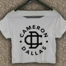 Cameron Dallas T-shirt Magcon Boys Crop Top Cameron Dallas  Crop Tee CD#02