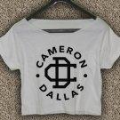 Cameron Dallas T-shirt Magcon Boys Crop Top Cameron Dallas  Crop Tee CD#02