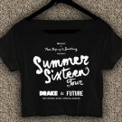 DRAKE Summer Sixteen T-shirt DRAKE Summer Sixteen Crop Top DRAKE Crop Tee DS#01