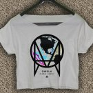 OWSLA Music T-shirt OWSLA Music Crop Top Skrillex Dubstep Trap Crop Tee OS#01