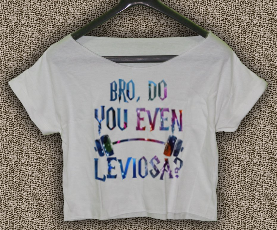 9eb49c9d8ffad Harry Potter T-shirt Bro Do You Even Leviosa Crop Top Harry Potter Crop Tee  HPC 02