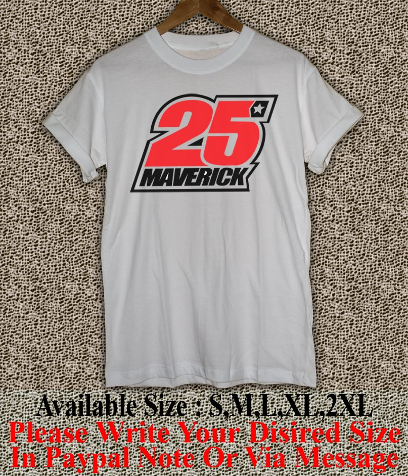 Maverick Vinales 25 Yamaha MotoGP T Shirt Size : S,M,L,XL,2XL MVK02