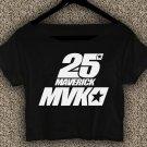 Maverick Vinales 25 Yamaha MotoGP T-shirt Maverick Vinales Crop Top Maverick Vinales Crop Tee #05