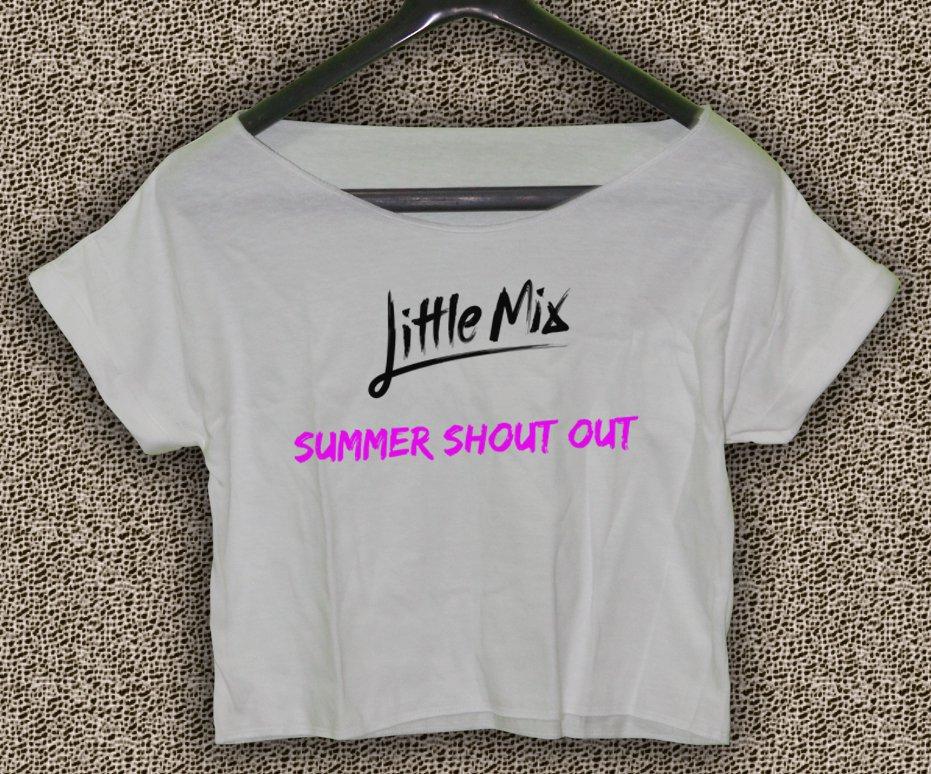 Little mix T-shirt Little mix Crop Top Little mix summer shout out Crop Tee LM#01
