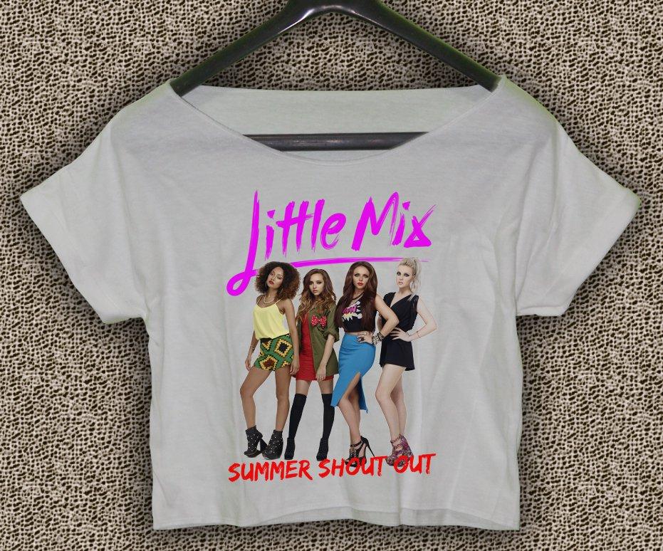Little mix T-shirt Little mix Crop Top Little mix summer shout out Crop Tee LM#03