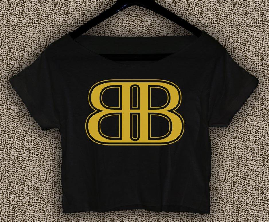 Rob & Big star Christopher Boykin T-shirt Rob & Big Crop Top Navy Big Black UFC Logo Crop Tee RB#02