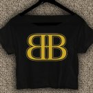 Rob & Big star Christopher Boykin T-shirt Rob & Big Crop Top Navy Big Black UFC Logo Crop Tee RB#02