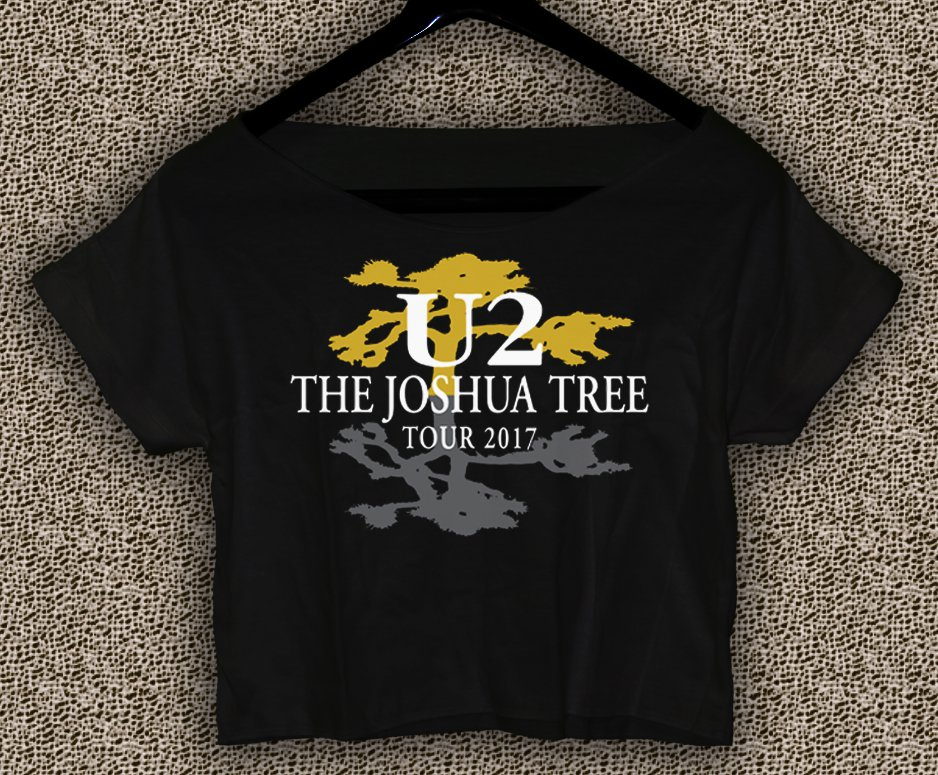U2 The Joshua Tree Tour 2017 T-shirt U2 The Joshua Tree Crop Top U2 The Joshua Tree Crop Tee TJT#01