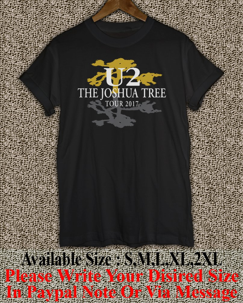 U2 The Joshua Tree Tour 2017 Black T-Shirt Men Music Concert Tee Size S to 2X TJT01L