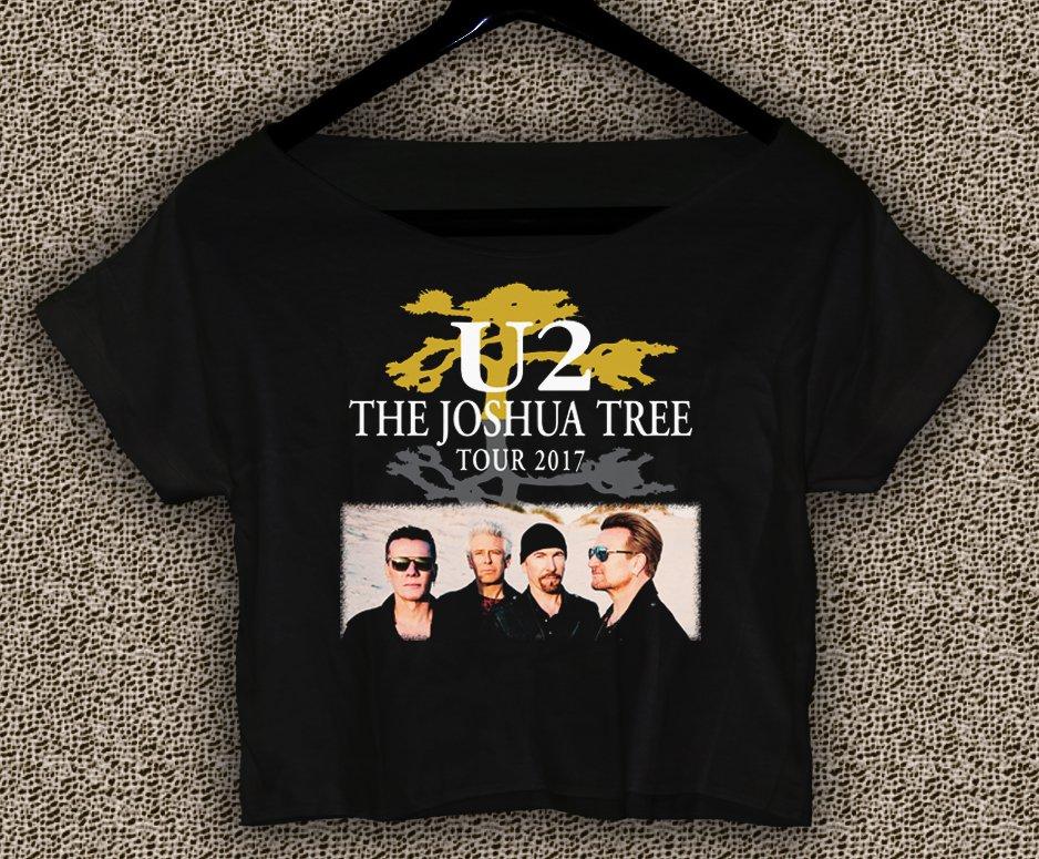 U2 The Joshua Tree Tour 2017 T-shirt U2 The Joshua Tree Crop Top U2 The Joshua Tree Crop Tee TJT#02