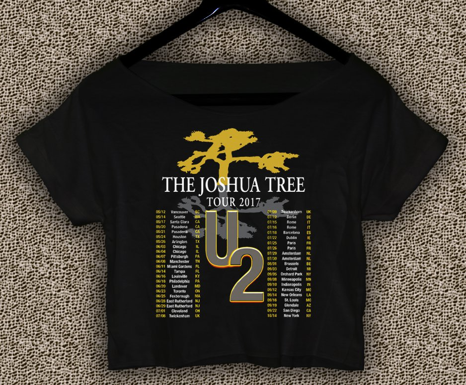 U2 The Joshua Tree Tour 2017 T-shirt U2 The Joshua Tree Crop Top U2 The Joshua Tree Crop Tee TJT#03