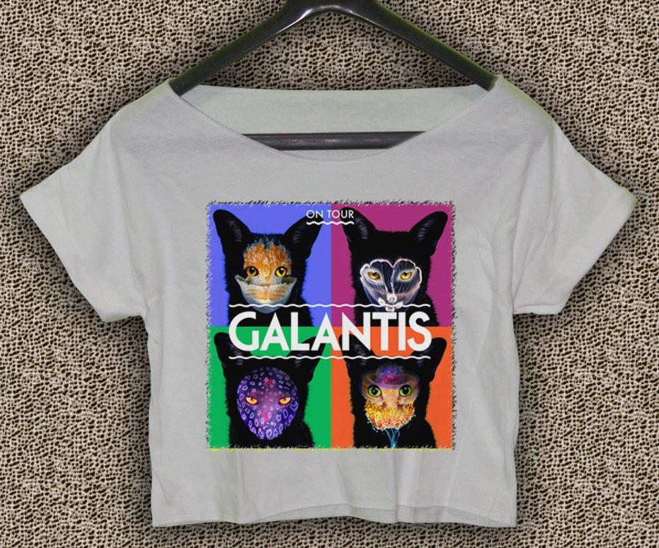 Galantis T-shirt Galantis Crop Top Galantis On Tour Crop Tee GLT#02